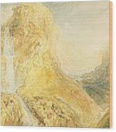 No.0571 Mossdale Fall, Yorkshire Wood Print