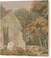 No.0735 A Country Churchyard, C.1797-98 Wood Print