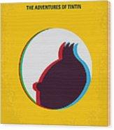 No096 My Tintin-3d Minimal Movie Poster Wood Print by Chungkong Art