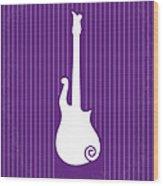 No124 My Purple Rain Minimal Movie Poster Wood Print by Chungkong Art