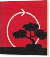 No125 My Karate Kid Minimal Movie Poster Wood Print