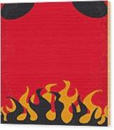 No131 My Hellboy Minimal Movie Poster Wood Print by Chungkong Art