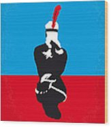 No136 My Soldier Blue Minimal Movie Poster Wood Print