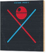 No154 My Star Wars Episode Iv A New Hope Minimal Movie Poster Wood Print