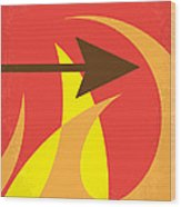 No175 My Hunger Games Minimal Movie Poster Wood Print