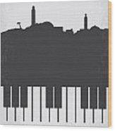 No192 My Casablanca Minimal Movie Poster Wood Print