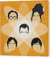 No196 My The Big Bang Theory Minimal Poster Wood Print