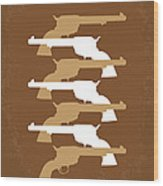 No197 My The Magnificent Seven Minimal Movie Poster Wood Print by Chungkong Art