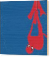 No201 My Spiderman Minimal Movie Poster Wood Print