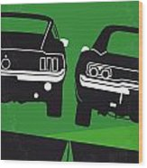 No214 My Bullitt Minimal Movie Poster Wood Print