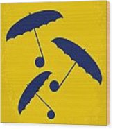 No254 My Singin In The Rain Minimal Movie Poster Wood Print by Chungkong Art