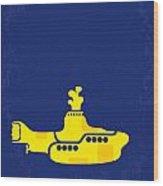 No257 My Yellow Submarine Minimal Movie Poster Wood Print