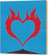 No337 My Wild At Heart Minimal Movie Poster Wood Print