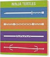 No346 My Teenage Mutant Ninja Turtles Minimal Movie Poster Wood Print