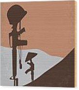 No428 My Hamburger Hill Minimal Movie Poster Wood Print