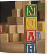 Noah - Alphabet Blocks Wood Print