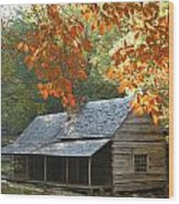 Noah Bud Ogle Farm Autumn Sunshine Wood Print