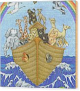 Noah's Ark Wood Print by Alison Stein