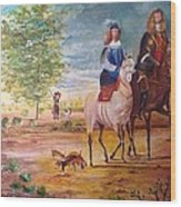 Nobel  Knight And Lady Wood Print