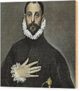 Nobleman With His Hand On His Chest Wood Print