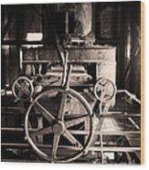 Nobody At The Wheel Wood Print