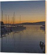Nockamixon Marina At Dawn Wood Print