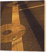 Nocturnal Street Shadows Wood Print