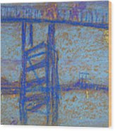 Nocturne. Battersea Bridge Wood Print
