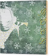 Noel Christmas Card Wood Print