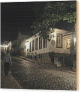 noite em Minas Gerais Wood Print by Maria Akemi  Otuyama