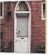 Nola Door Wood Print by John Rizzuto