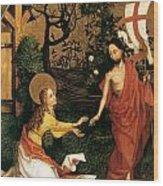 Noli Me Tangere Wood Print by Martin Schongauer