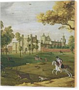 Nonsuch Palace In The Time Of King Wood Print