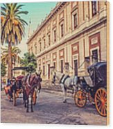 Noon At Cathedral Square. Seville Wood Print