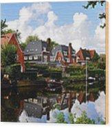 Noorder Amstelkanaal Amsterdam Wood Print