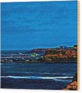 Nor Cal Seascape Wood Print