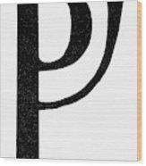 Nordic Rune Fehe Wood Print
