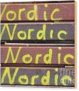 Nordic Rusty Steel Wood Print
