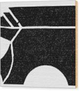 Nordic Symbol Anvil Wood Print