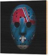 Nordiques Jersey Mask Wood Print