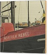 Norfolk Rebel Wood Print