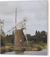 Norfolk Windmill Wood Print