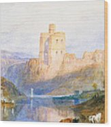 Norham Castle An Illustration To Marmion By Sir Walter Scott Wood Print