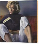 Norma Jeane Baker Wood Print by Reggie Duffie