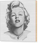 Norma Jeane Wood Print