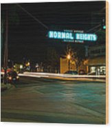 Normal Heights Neon Wood Print by John Daly