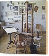 Norman Rockwell Studio Wood Print