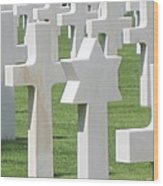 Normandy American Cemetery Wood Print
