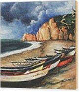 Normandy Coast - Landscape Oil Wood Print