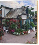 Normandy Inn - Carmel California Wood Print by Glenn McCarthy Art and Photography